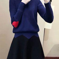 Áo len gân thêu tim sỉ từ 5sp bất kỳ