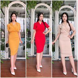 Đầm Ôm Cổ Vest SM Giá Rẻ - GR0010 giá sỉ