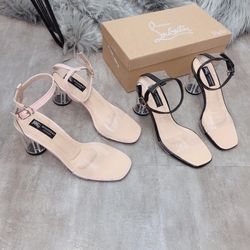 Giày sandal gót trong giá sỉ