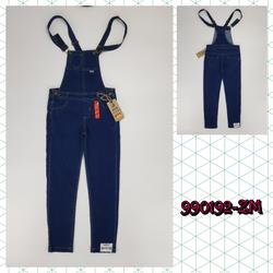 990192-ZM1- Quần yếm bé gái dài đại đáp túi xanh đậm size nhỡ 9t-14tri69261-ZM1t8b1 giá sỉ