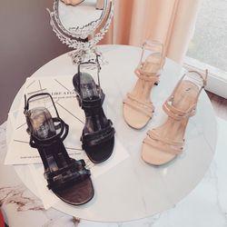 Sandal dây đôi T gót cao 7f giá sỉ