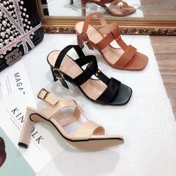 Giày sandal gót 9f hậu hở giá sỉ