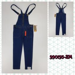 990193-ZM1- Quần yếm bé gái dài đại kéo khóa xanh đậm hiệu jinjean size nhỡ 9t-14tri69259-ZM1t8b1 giá sỉ