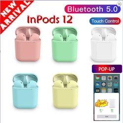 Tai nghe inPods 12 cảm biến vân tay nhiều màu sắc giá sỉ