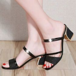 Giày sandal cao gót kim tuyến giá sỉ