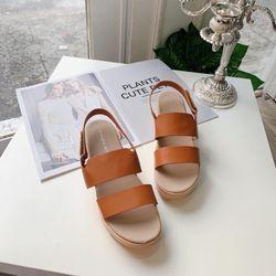Giày sandal da đế bánh mì cao giá sỉ