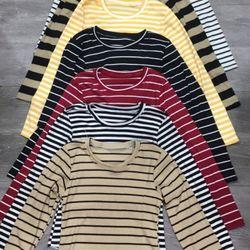 Áo gân len tay dài nhiều màu sọc ngang giá sỉ giá bán buôn giá sỉ