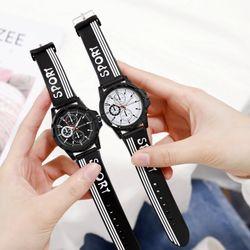 Đồng hồ nam nữ Mstianq dây cao su cao cấp 6 kim kiểu dáng thể thao giá sỉ, giá bán buôn
