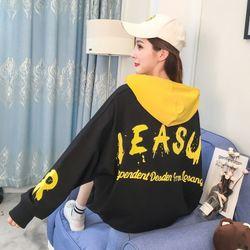 Áo thu đông nữ hoodie giấu quần phong cách Hàn Quốc 2 màu trắng và đen freesize dưới 56kg mặc như hình