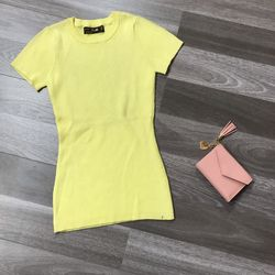 Áo len nữ dệt kim tay ngắn cổ tròn đẹp 2020 giá sỉ, giá bán buôn