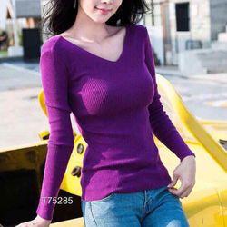 Áo len gân dệt kim tay dài xịn đẹp giá sỉ