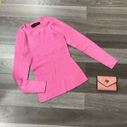 Áo len gân nữ dệt kim tay dài cổ tròn Bảng màu mới 2020 giá sỉ, giá bán buôn