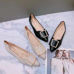 Giày búp bê mũi nhọn phối khoá giá sỉ