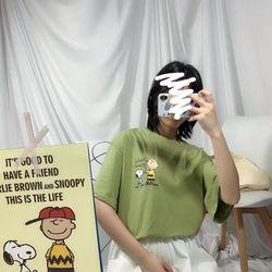 Áo thun tay lỡ form rộng Charlie Brown giá sỉ giá bán buôn giá sỉ