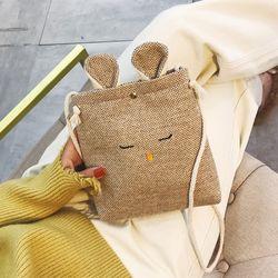 Túi đeo tai thỏ chất liệu vải bố kt 21x17cm giá sỉ