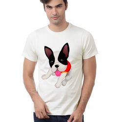 Áo thun hình cún 3D cổ tròn in truyền nhiệt