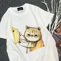 Áo thun in hình dễ thương mèo con giá sỉ