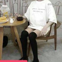 Áo thun unisex in chữ đơn giản phông rộng giá sỉ