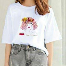 Áo thun trắng nữ dễ thương 55 giá sỉ