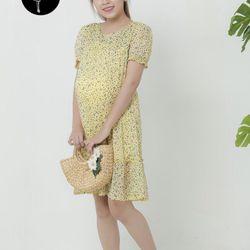 Đầm bầu voan hoa 2836 giá sỉ, giá bán buôn