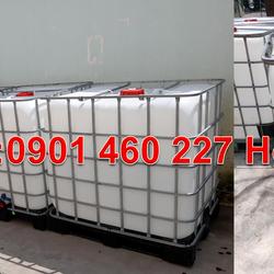 Gía tank nhựa 1000l đựng dung dịch nước hoa axit dầu nhớt có loại mới và qua sử dụng tại TPHCM giá sỉ
