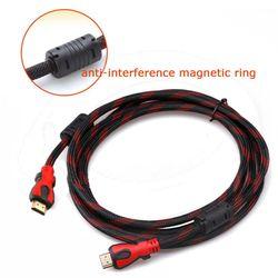 Cáp HDMI 15m tốc độ cao bọc lưới có tụ chống nhiễu Đen phối đỏ giá sỉ