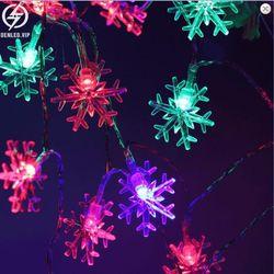 Đèn chớp nháy 5M nhiều HÌNH bông tuyết ngôi sao