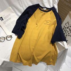 Áo thun tay lỡ form rộng phối màu giá sỉ giá bán buôn giá sỉ
