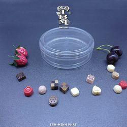 Hộp hũ nhựa tròn PS trong suốt 11 size đựng bánh kẹo giá sỉ