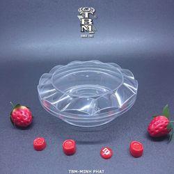 Hộp nhựa quạt tròn trong đựng bánh kẹo giá sỉ