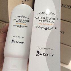 KEM DƯỠNG TRẮNG DA BODY NATURE WHITE MILKY PACK THE COLLAGEN ECOSY giá sỉ giá bán buôn