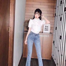 Jean nữ ống loe màu nhạt