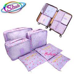 Túi du lịch bộ 6 túi chia hành lý L11 Shalla giá sỉ
