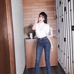 Jean nữ ống loe màu đậm