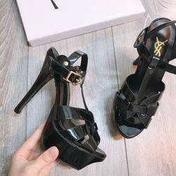 Giày sandal gót đúp rọ siêu cao cấp giá sỉ