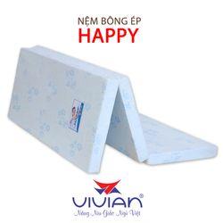Nệm bông ép bọc vải cotton Vivian Happy gấp 3 1m6x2mx9cm giá sỉ