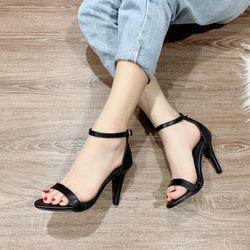 Giày sandal cao gót da mờ giá sỉ