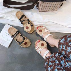 Dép sandal đế cói bản đính hoa siêu cưng giá sỉ