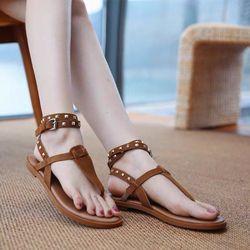 Giày sandal đế bệt da giá sỉ