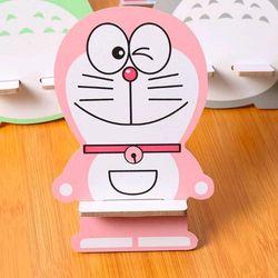 đế điện thoại gỗ mẫu mới y hình màu hồng