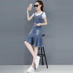 Đầm Jean Yếm Đuôi Cá Kiểu giá sỉ