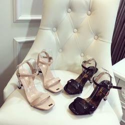 Giày sandal gót trong chữ H cực xinh giá sỉ