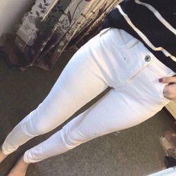 Jean dài trắng