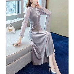 Đầm nhung dáng dài cao cấp giá sỉ, giá bán buôn