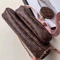 Set túi hoa LVV thời trang 3 món size 24cm fullbox - B00045 giá sỉ