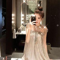 Đầm Kim Tuyến Rũ Dập Li Đính Cườm giá sỉ