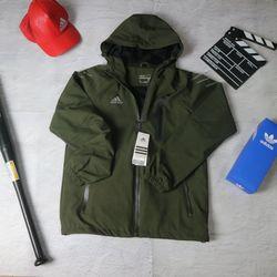 áo khoác nam kéo khóa phối hợp với mũ tiện lợi