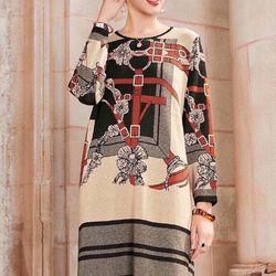 Đầm len họa tiết cao cấp xinh giá sỉ, giá bán buôn