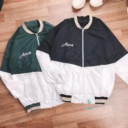 Áo khoác dù nam nữ phối 2 màu giá sỉ