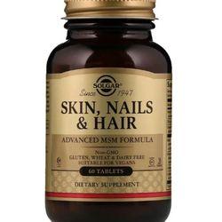 Viên uống đẹp da móng tóc Solgar Skin Nails Hair Advanced MSM Formula - 60 viên